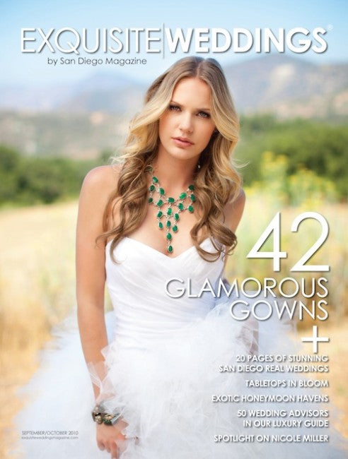 PRESS FEATURE // EXQUISITE weddings MAGAZINE // SEPTEMBER-OCTOBER ISSUE 2010