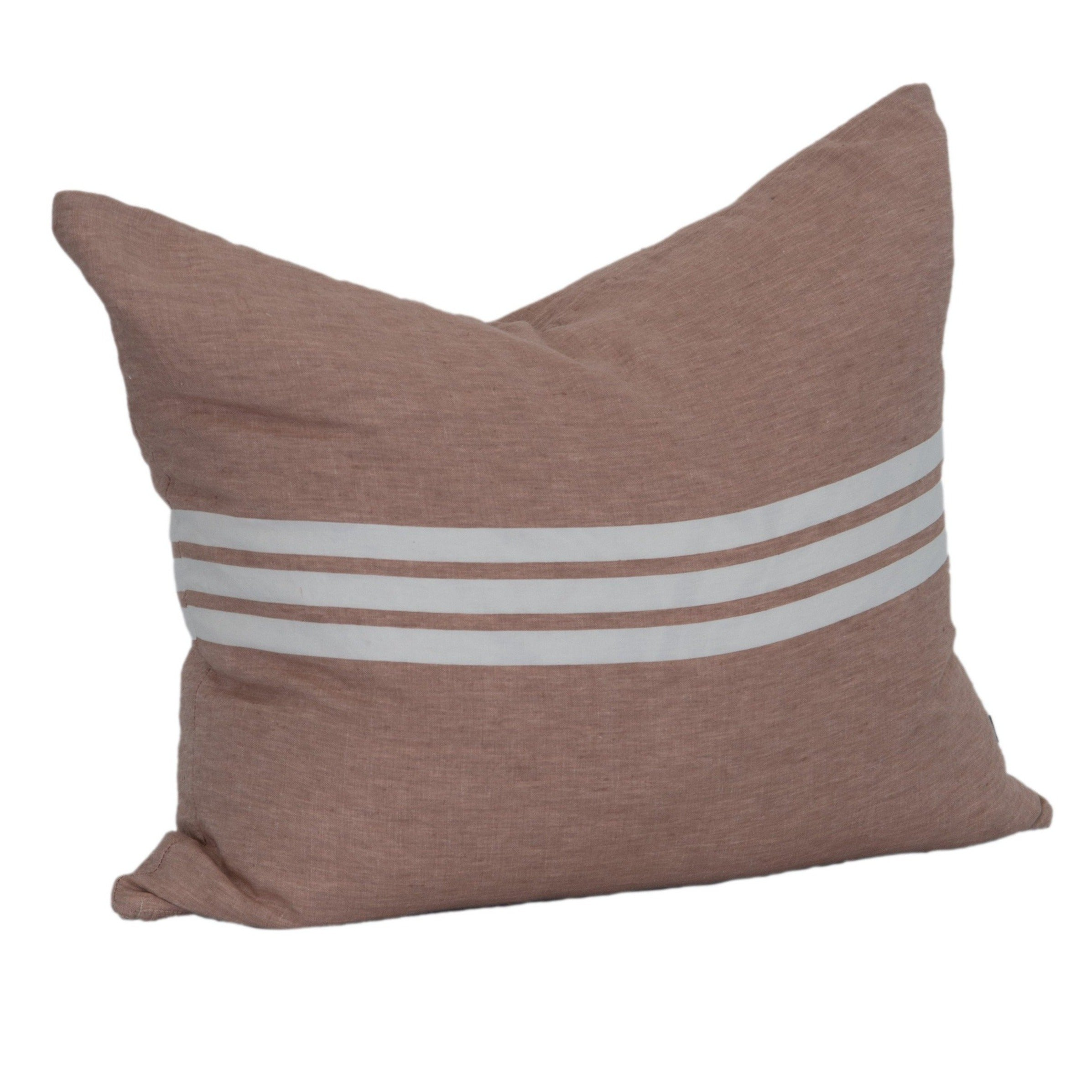 Coral Striped Pillow