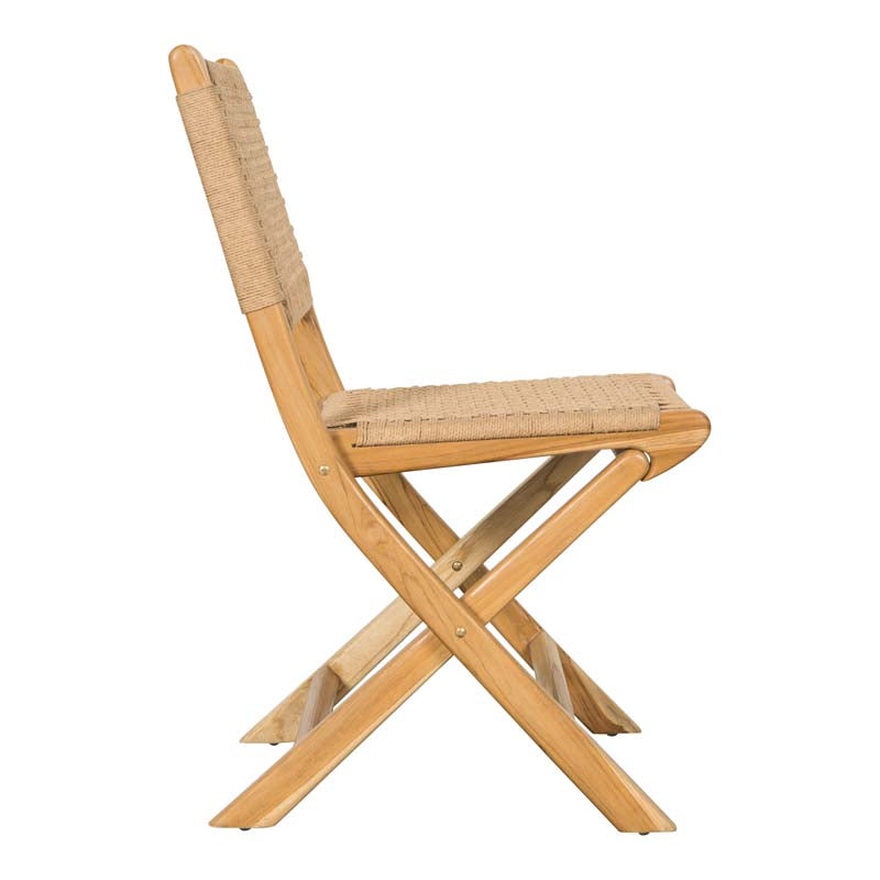 Candice Neutral Folding Chair