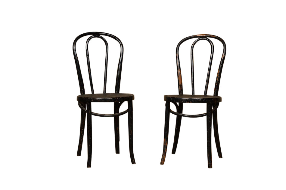 Dema Black Bentwood Chair