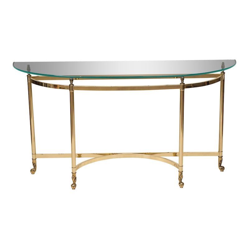 Jenner Brass Console Table