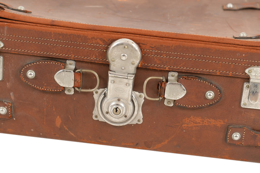 Pierce Leather Suitcase