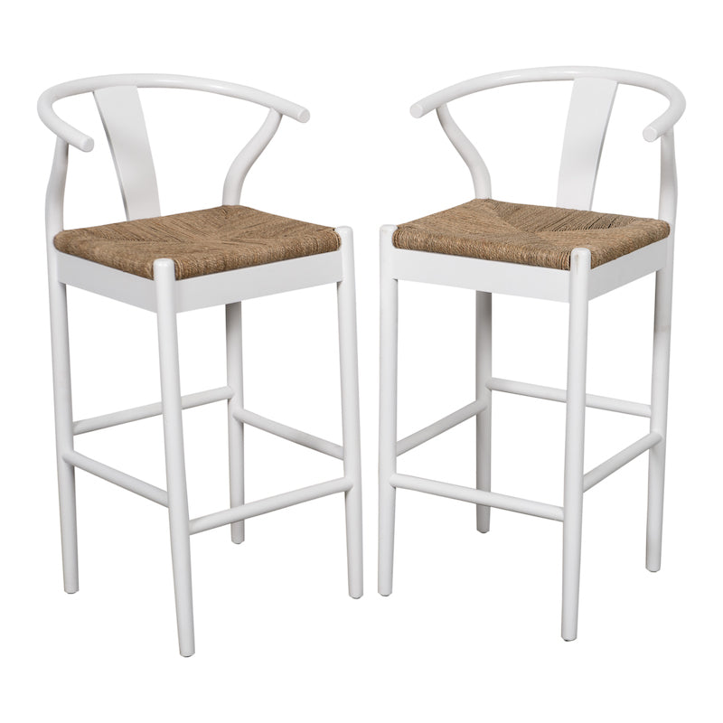 Harlow White Bar Stool