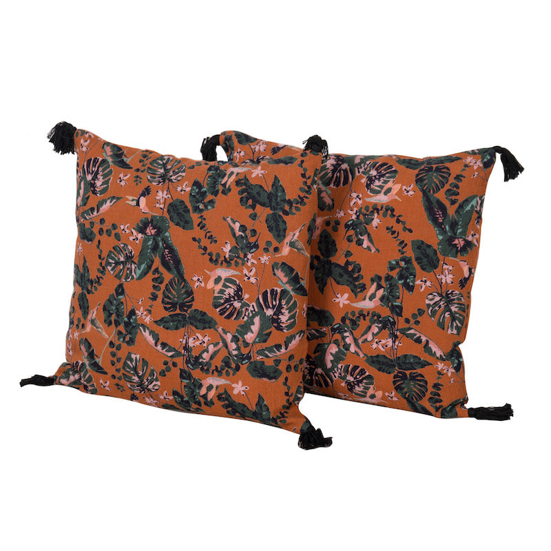 Samira Paprika Pillows (Pair)