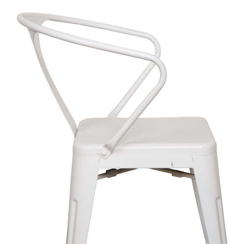 Weldon White Armchair