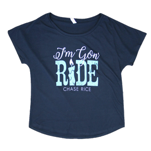 Ladies I'm Gon' Ride Tee - Navy