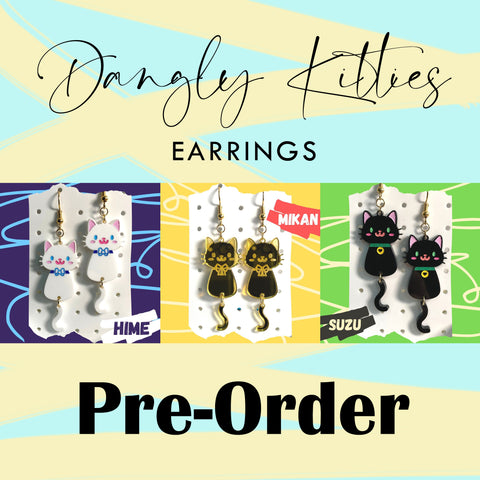 [Earrings] Dangly Kitties