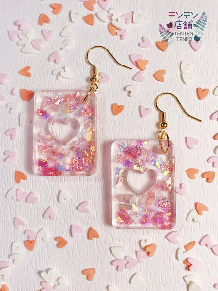 Iridescent ♥ Heart to Heart ♥ Resin Charms