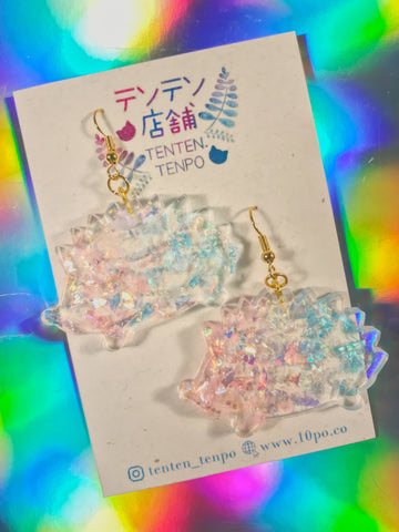 Iridescent Hedgehog Dangles