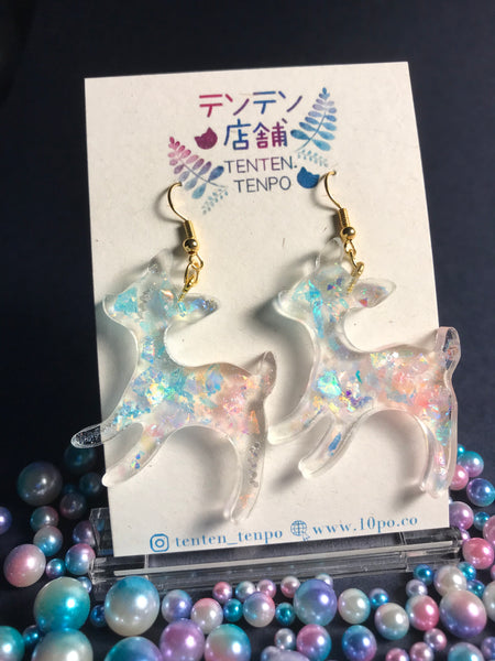 Iridescent Baby Deer Dangles