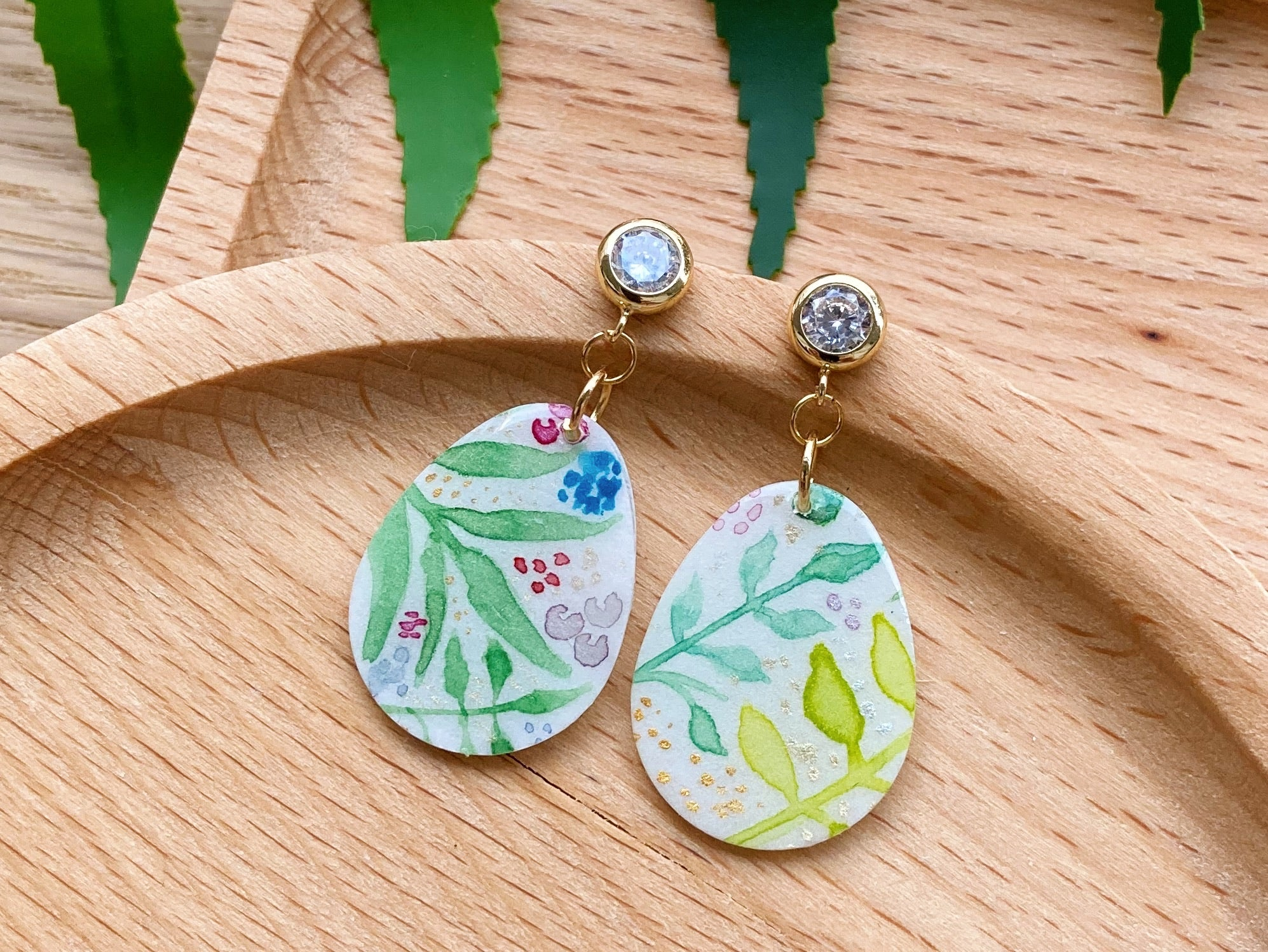Summer Garden (Oval Dangles 02)
