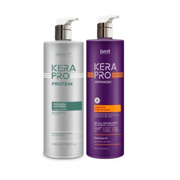 Kerapro Protein Tratamiento Antifrizz 1000ml + Champú post 1000 ml - Kissbel