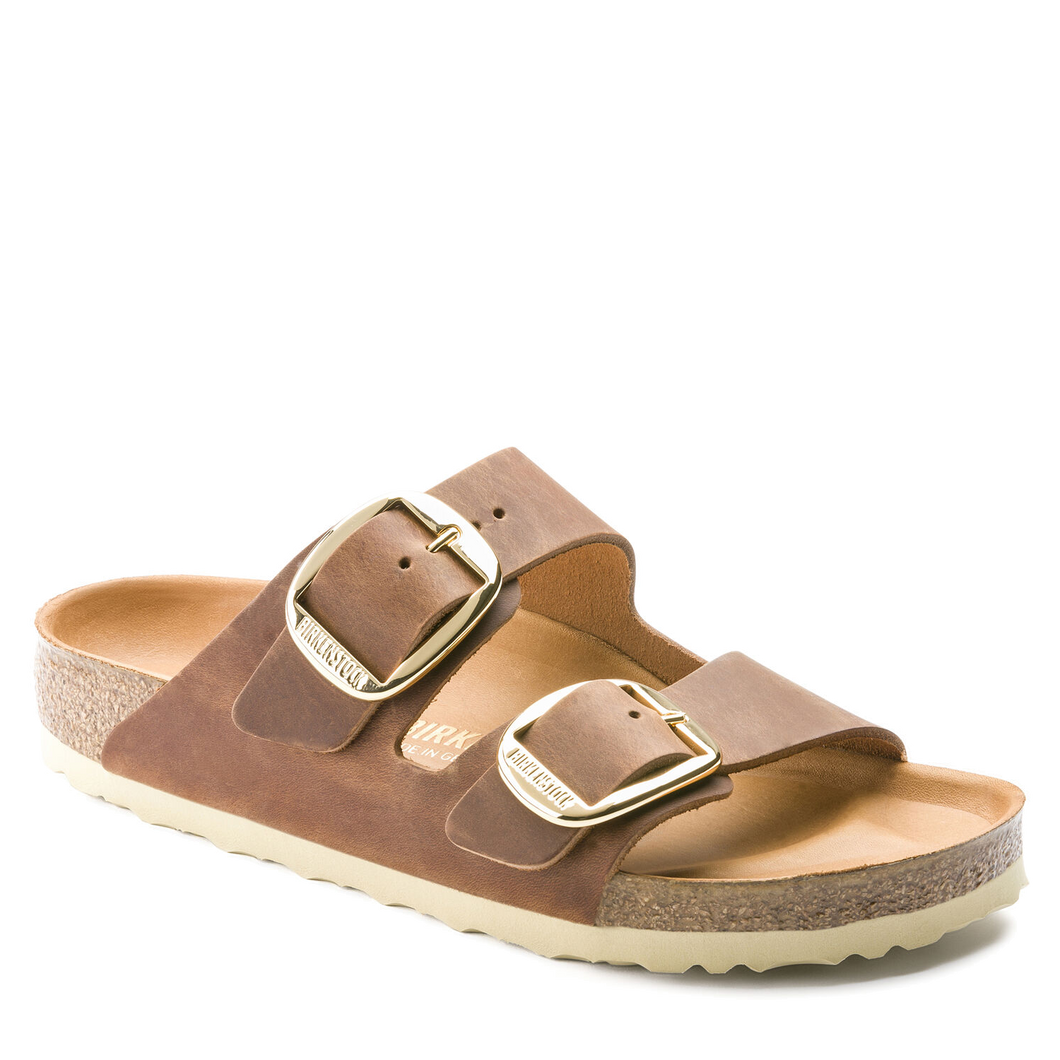 Arizona Big Buckle Cognac Oiled Leather (Women)