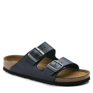 Arizona Soft Footbed Blue Oiled Leather (Men)