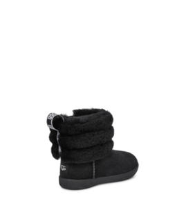 Toddlers Fluff Mini Quilted Black