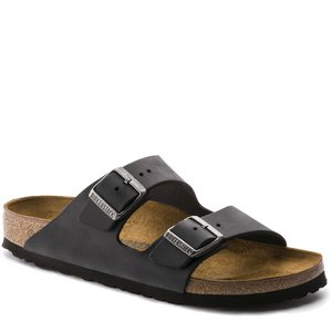 Arizona Soft Footbed Black Oiled Leather (Women)