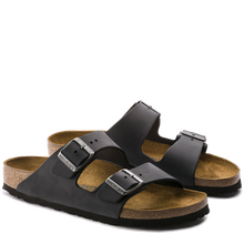 Load image into Gallery viewer, Arizona Soft Footbed Black Oiled Leather (Women)