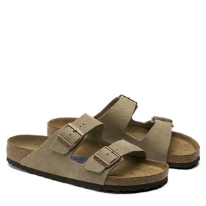 Arizona Soft Footbed Taupe Suede (Men)