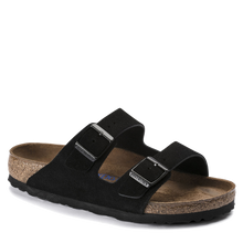 Load image into Gallery viewer, Arizona Soft Footbed Black Suede (Women)
