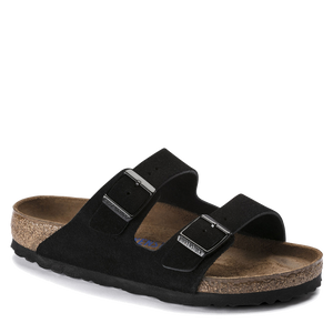 Arizona Soft Footbed Black Suede (Women)