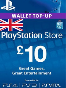 PlayStation Network Card (PSN) 10 GBP (UK)