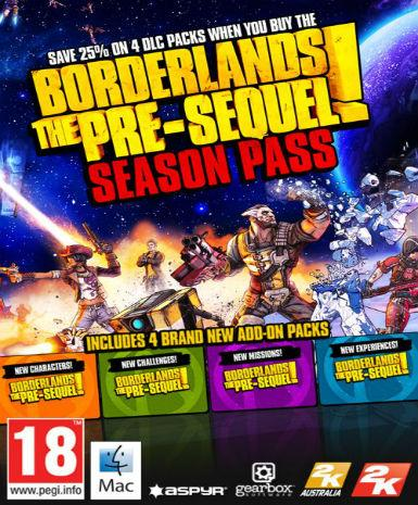 Borderlands: The Pre-Sequel Season Pass (MAC) DLC