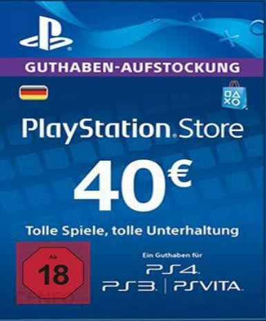 Playstation Network Card (PSN) 40 EUR (German)