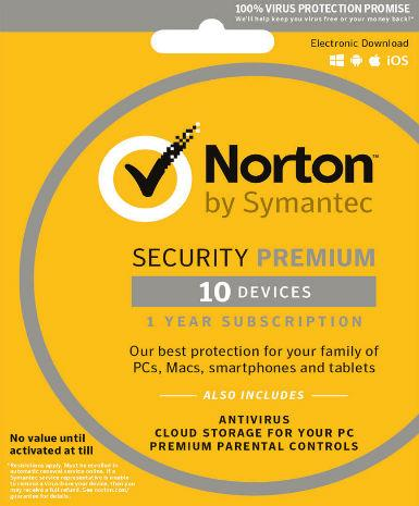 Norton Security Premium Multi Devices 2017 1 Year 10 PC