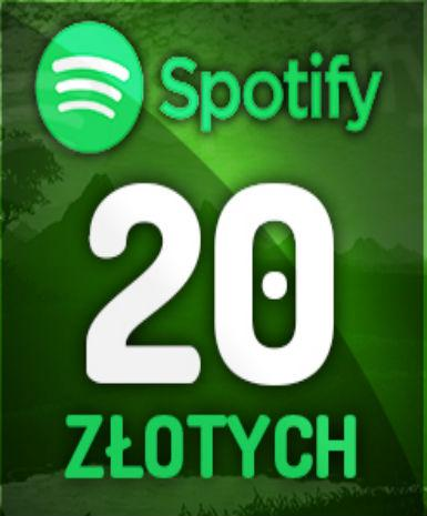 Spotify 20 PLN Gift Card