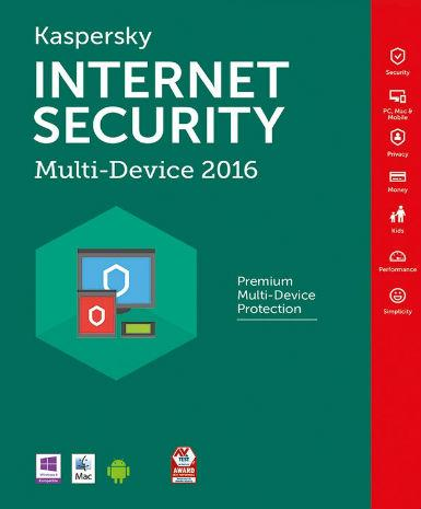 Kaspersky Internet Security Multi Device 2016 1 Year 4 PC
