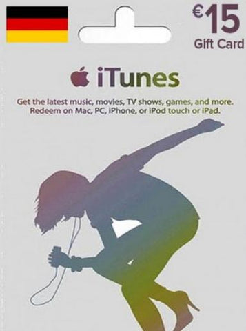 iTunes u20ac15 Gift Card DE