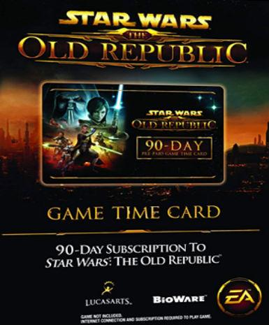 Star Wars: The Old Republic - 90-day Time Card