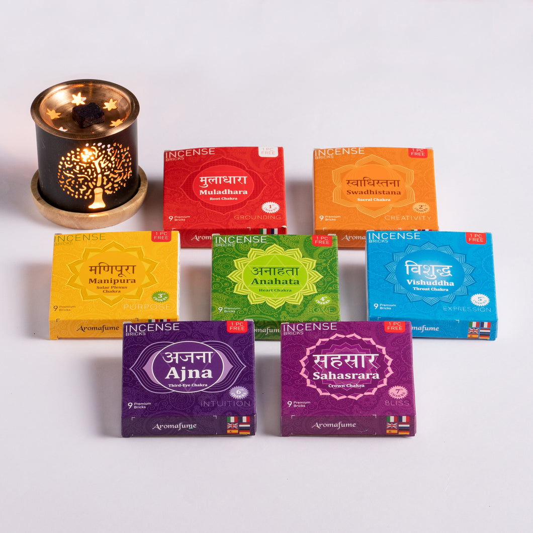 7 Chakra Incense Bricks Mega Set