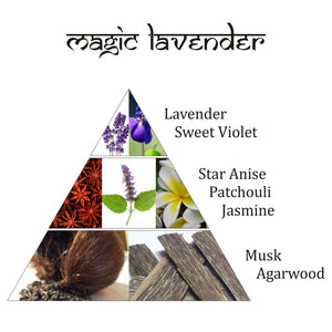 Magic Lavender Incense Bricks & Rainbow Burner