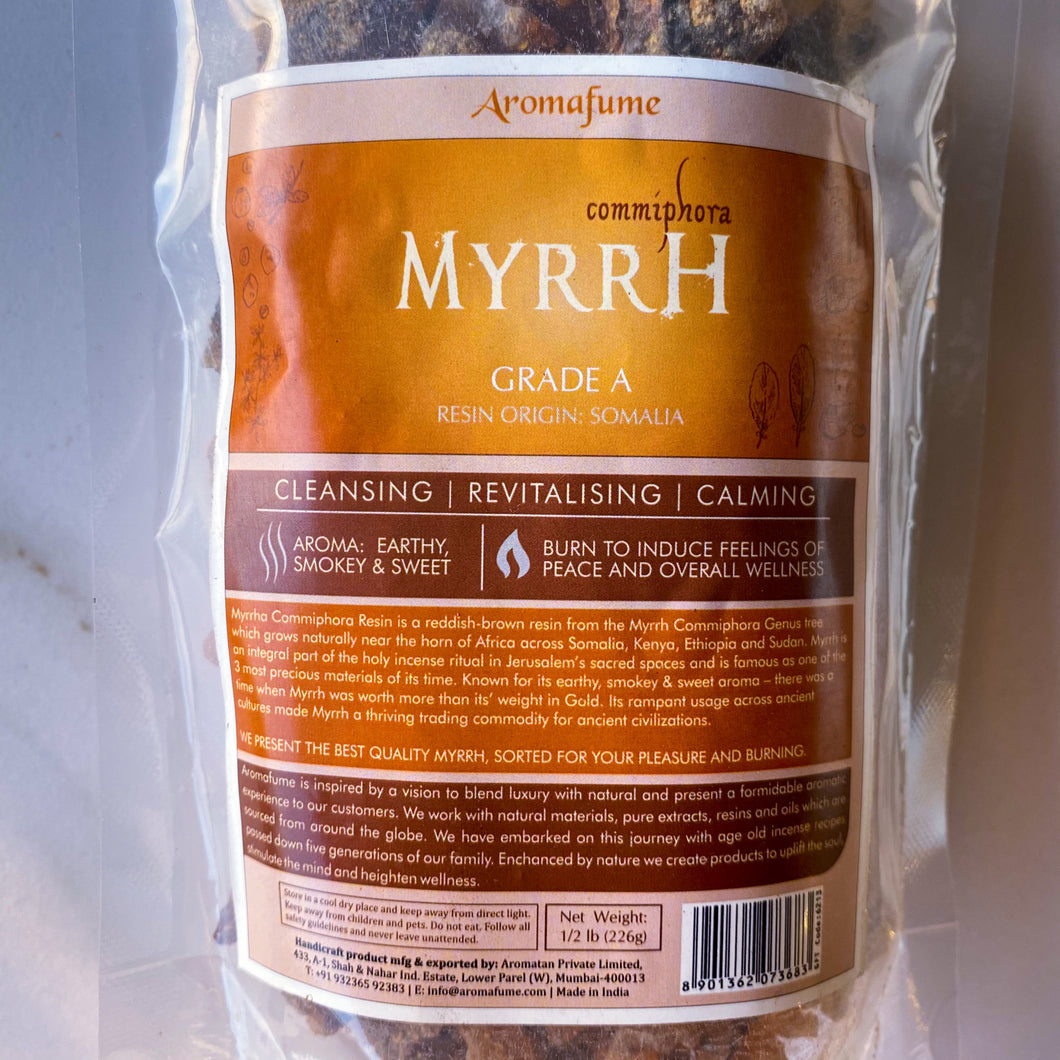 Myrrh - Myrrha Commiphora Resin ½ lb (227 g)