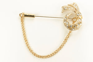 Classic Gold Diamond Long Hijab Pins
