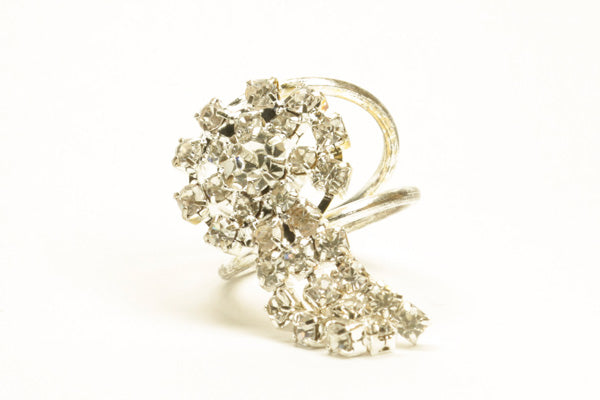 Diamond Hijab Ring Silver