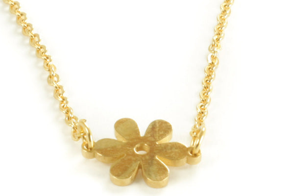 Long Gold Flower Necklace