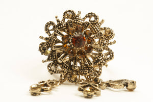 Vintage Hijab Rings Orange