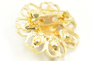 Pearl Diamond Hijab Pins Gold