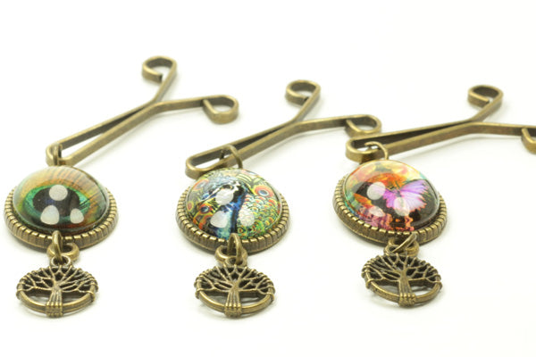 Picture Hijab Clips (Tree Pendant)