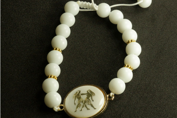 Zodiac Picture White Black Bracelets