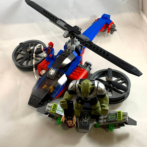76016 Spider-Helicopter Rescue [USED]