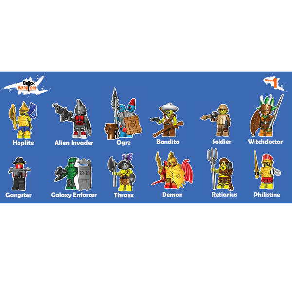BrickWarriors Pack Wave 1