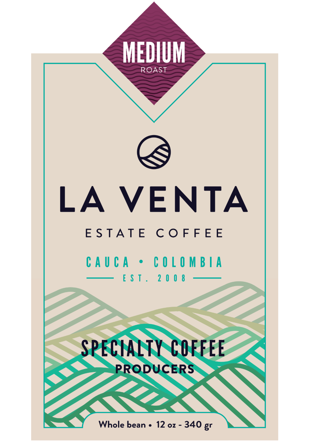 Colombian Specialty Coffee - Medium Roast Whole Bean