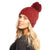 Gorro de Lana Mermaid Ruby Wine
