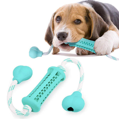 Dog Chewing Toy with Washable Cotton Rope & Safety Rubber