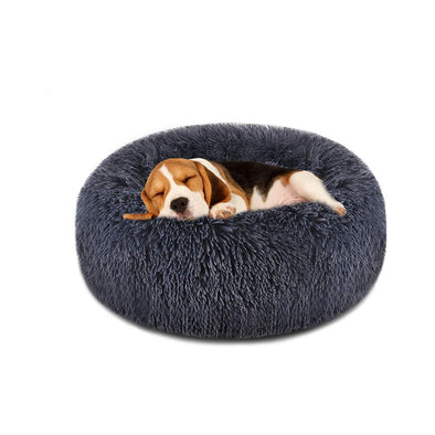 Pet Faux Fur Cuddler Round Comfortable Bed