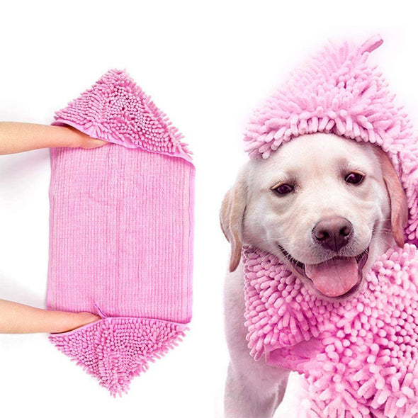 Pet Towel - Microfiber Super Shammy with Hand Pockets
