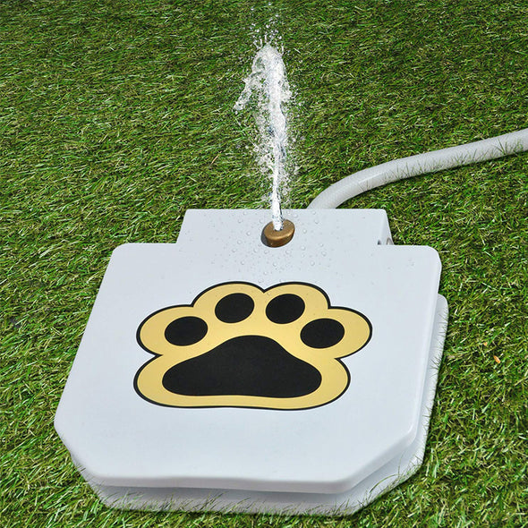Upgraded Outdoor Dog Drinking Water Fountain Step On
